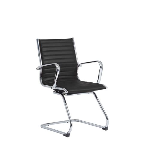 ribbed leather office chair adammayfield co budget eames style ribbed faux leather cantilever chair black specialist furniture contracts