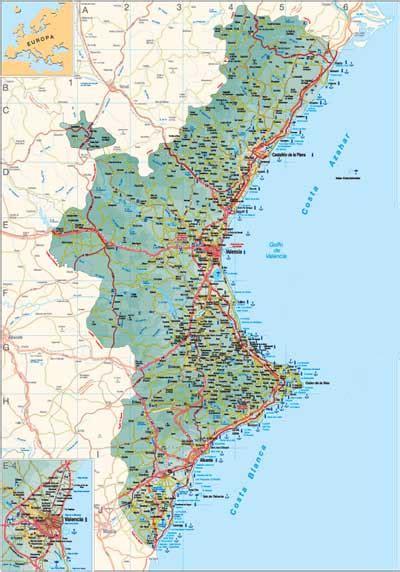 valencia y comunidad valenciana 8497760484 mapa de la comunidad valenciana threeblindants com