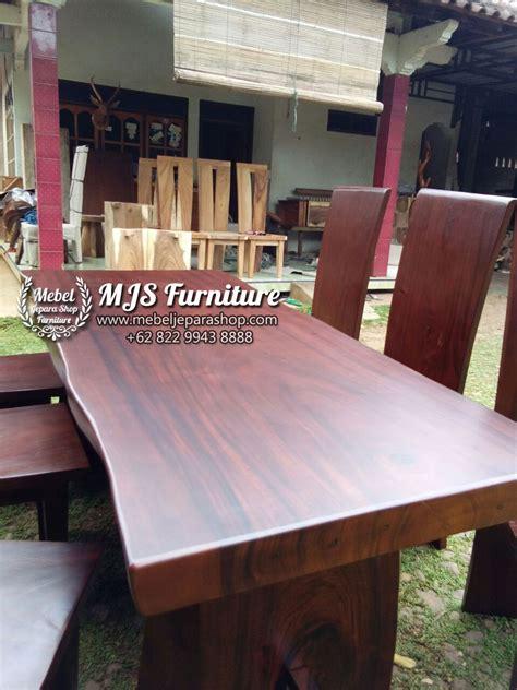 Meja Makan Kayu Trembesi meja kayu trembesi finishing doff mebel jepara shop