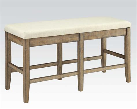 counter benches counter height bench claudia by acme furniture ac71723