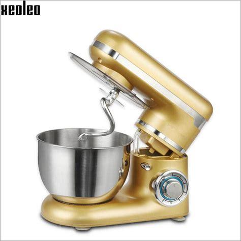 Mixer Golden Xeoleo 4l Food Mixer Golden Stand Mixer 3 Function Blender 6 Speed Dough Mixer Egg Beater 600w