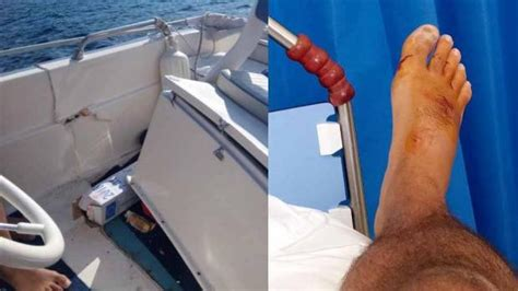 jet ski crashes into boat jet ski crashes into boat in comino two injured