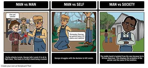 mice  men lesson plan  storyboard examples