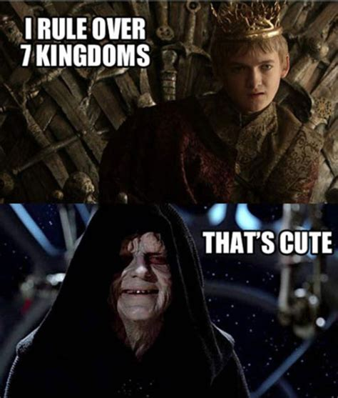 Star Wars Game Of Thrones Meme - star wars vs game of thrones that s cute revisited