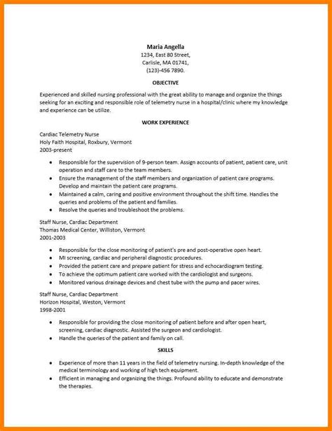 Rn Duties For Resume by 8 Telemetry Description G Unitrecors