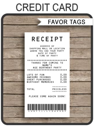 Editable Credit Card Template by Printable Favor Tags Archives Simonemadeit