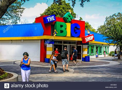 bid shopping the big shop in legoland theme park florida stock photo