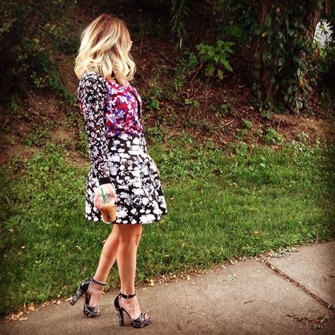 Topshops Take On The Prada Skirt by Kimmi Miao Topshop Floral Skirt Prada Open Toed