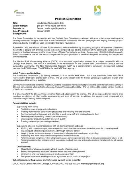 sles of resumes summary of qualifications for landscape technician resume template exle
