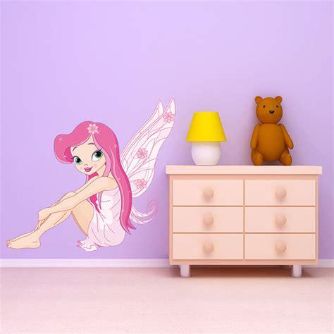 wandtattoo kinderzimmer feen kinderzimmer wandtattoo faerie rosa sitzen