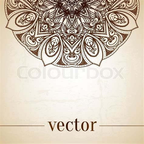 retro pattern card background vector graphic vintage vector circle floral ornamental border lace
