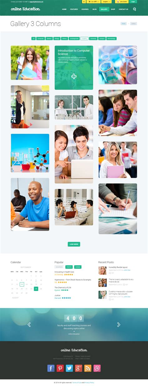 center column themes education center training courses wordpress theme by