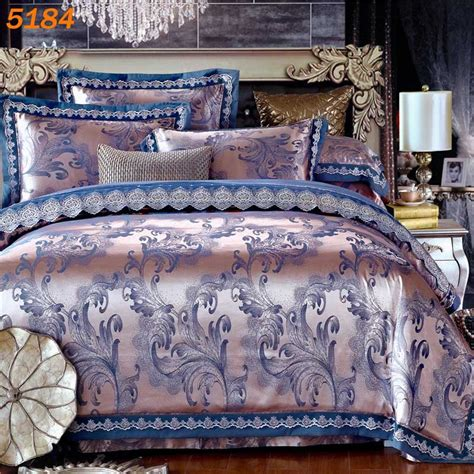 silk bed sheets queen luxury embroidery tencel satin silk bedding set bedclothes