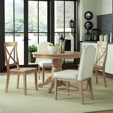 Dining Room Table Sets Home Depot Home Styles Classic 5 White Wash Dining Set 5170