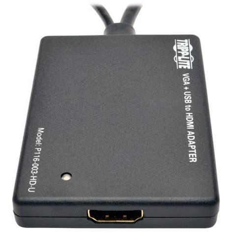 Speaker Fleco F 003 Usb Power vga to hdmi converter adapter with audio and usb power 1080p p116 003 hd u tripp lite