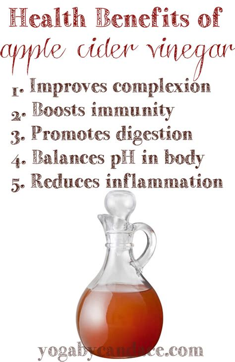 Apple Cider Vinegar Detox Bath Benefits by 5 Health Benefits Of Apple Cider Vinegar Yogabycandace