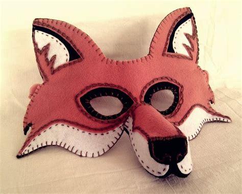 fantastic mr fox mask template fox mask pdf pattern
