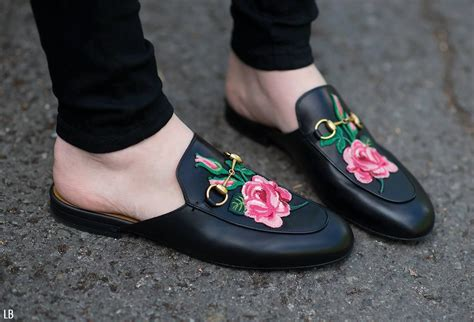 Flatshoes Loafers Guci Milan Slip On Guci Slippers Hitam my new gucci princetown floral embroidered loafers review raindrops of sapphire