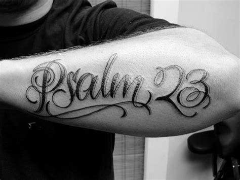 psalm 23 tattoo 40 psalm 23 designs for bible verse ink ideas