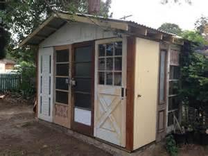beautiful junk recycled door garden shed