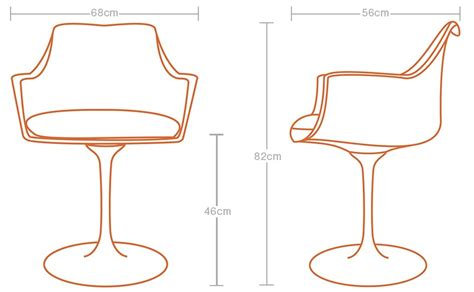 Tulip Chair Dimensions by Eero Saarinen Black Tulip Arm Chair Pash Classics