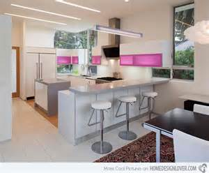 White Kitchen Cabinets Countertop Ideas 15 Astounding Peninsula Shaped Modern Kitchens Home