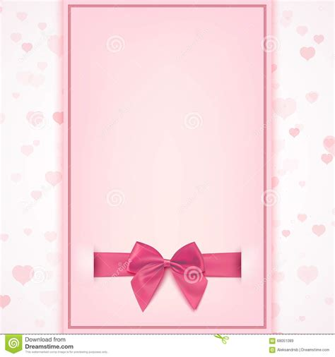 blank valentines card template blank greeting card template stock vector illustration