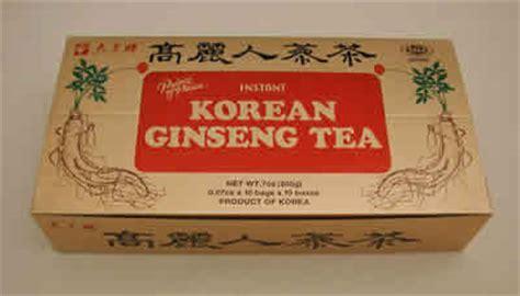 Teh Ginseng korean ginseng tea 3 gm 100 bags 0 00ea from