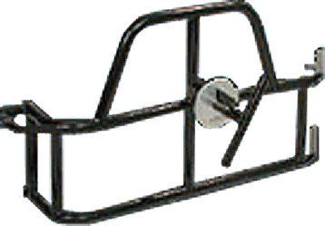 fab swinging site or fab swing away tire carrier in gloss black for 97 06