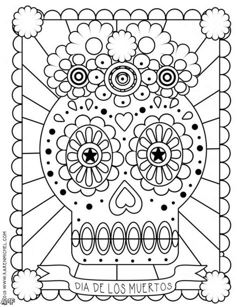 dia de los muertos couple coloring pages 2015 2016