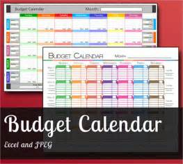 monthly budget calendar template free budget calendar template 6 free sles exles format
