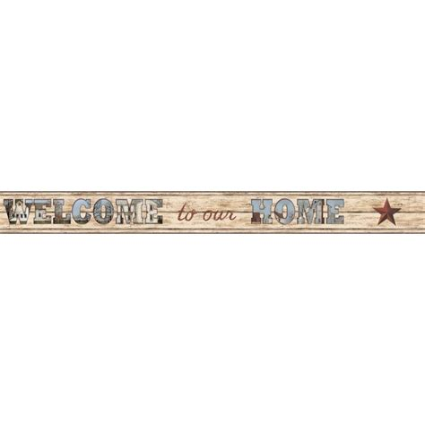 Wallborder Wallpaper List Kode 1022 york wallcoverings country keepsakes welcome to our home wallpaper border ac4421bd the home depot