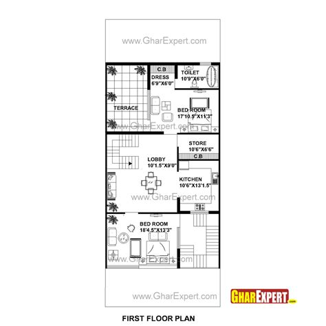 75 square meters in feet house plan for 30 feet by 75 feet plot plot size 250