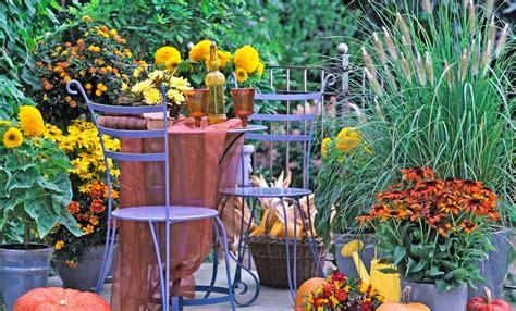 giardino autunno giardino d autunno piante fiori e decorazioni leitv