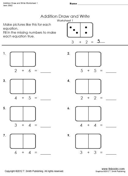 Equation Drawer by Writing Addition Equations Worksheets Solve And Write