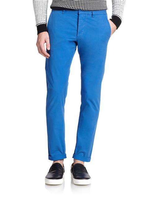 blue chino lyst ami slim fit chino in blue for