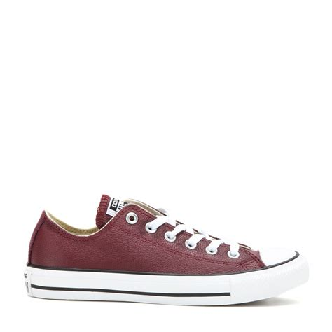 leather converse shoes converse chuck all leather sneakers in purple