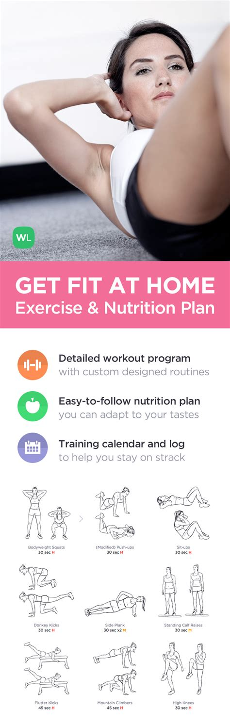 get fit at home no equipment workout program for