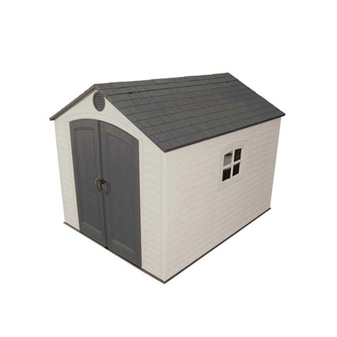 lifetime lifetime storage shed 8 ft x 10 ft the home