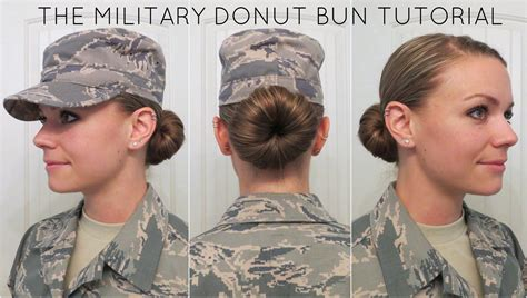 acceptable hair for women in army after being at air force basic military training for about
