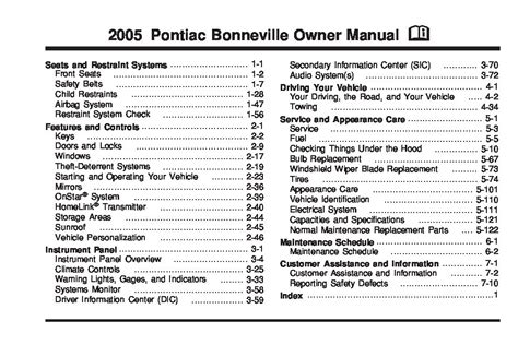 car repair manuals online pdf 2005 pontiac bonneville lane departure warning service manual 1998 pontiac bonneville workshop manual free downloads 1998 pontiac