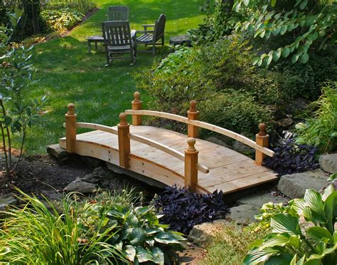 garden bridges treated pine amelia single rail garden bridge rustic