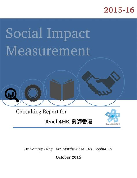 Social Impact Consulting Mba by Social Impact Measurement Consulting Report 2015 16 By