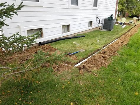 sump pump backyard drainage yard drainage this picture shows the effect of surface