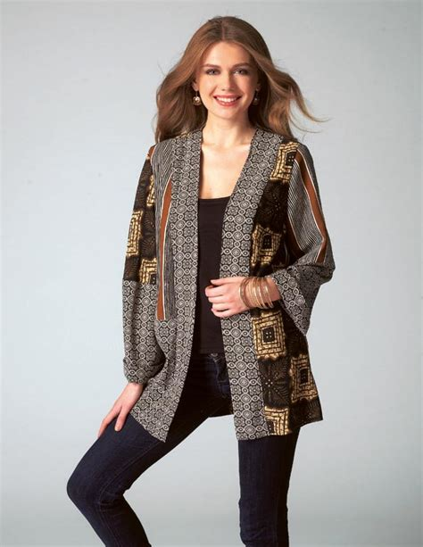 Patchwork Jacket Pattern - m7132 patchwork kimono jacket pattern