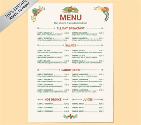 25 free restaurant menu templates 28 images 25 best