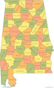 state map counties map of alabama