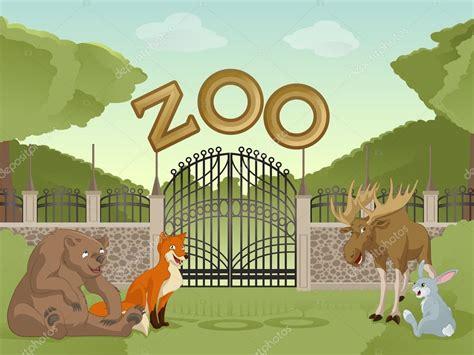 imagenes de zoologico en ingles zool 243 gico con animales de dibujos animados archivo