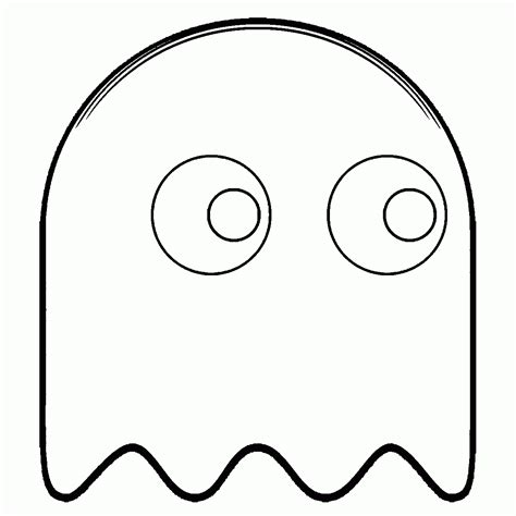 pacman ghost coloring page free coloring pages pac man coloring home
