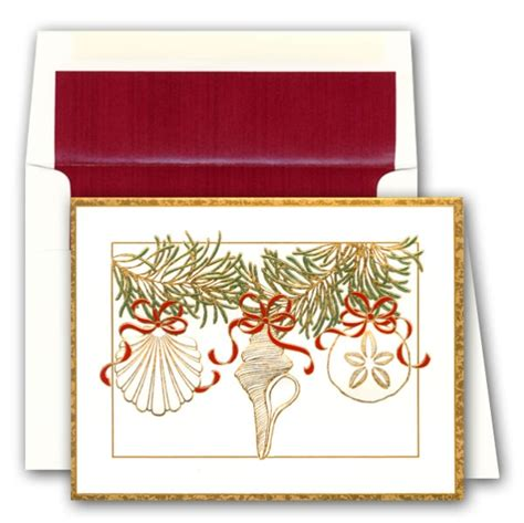 Shell Gift Card Customer Service - embossed shell ornaments christmas greeting cards paperstyle